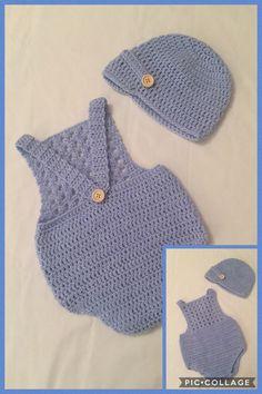 Ideas crochet baby boy romper hats for 2019 Crochet Beach Dress, Crochet Romper, Crochet Bebe, Crochet Baby Shoes, Crochet Baby Clothes, Crochet For Boys, Newborn Crochet, Easy Crochet, Free Crochet