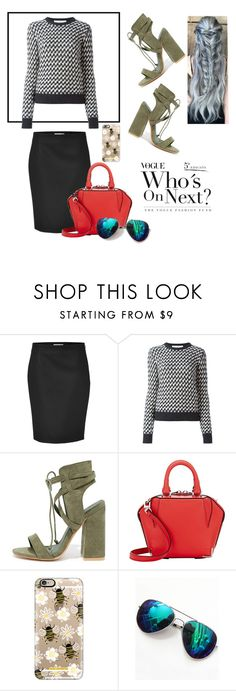 """""""Untitled #233"""" by ttkro ❤ liked on Polyvore featuring Bouchra Jarrar, Golden Goose, So Me, Alexander Wang and Casetify"""