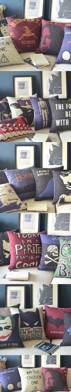 Free Shipping Linen Throw Pillow Hot Sale New Fashion Wedding Decor 45cm Harry Potter Star Wars Home Office Sofa Car Cushion