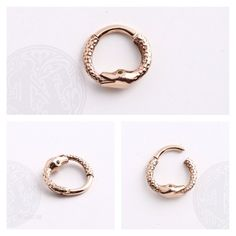 This little babe is here waiting! #snakes #rosegold #jewelry #piercing 14g solid rose gold clicker from @bvla