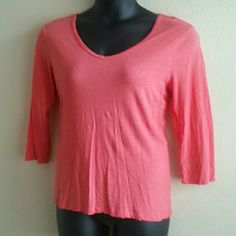 SPENSE knits Top - Salmon GREAT GENTLY LOVED CONDITION! Color is Salmon. Light, comfortable fabric! 3/4 sleeves. No rips, stains, or holes. This low price is final. Feel free to take advantage of my bundle offer for an amazing discount! Sorry loves, but no trades. Spense Tops