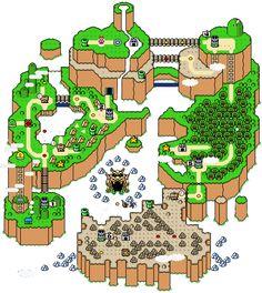 Super Mario World Map.