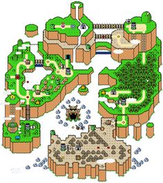 Super Mario World Map.