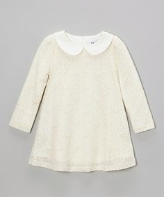 Take a look at this Fouger for Kids Ivory Floral Swing Dress - Toddler & Girls on zulily today!