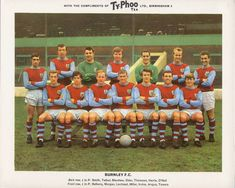/ Famous Football Clubs ~ Series Ty-Phoo Tea 24 cards in each set / . Retro Football, Football Kits, Football Cards, Typhoo, Burnley Fc, Bristol Rovers, Laws Of The Game, Association Football, Most Popular Sports