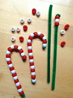 Stringing beads is a great way to work on fine motor skills, and kids get a cool ornament out of the deal too!