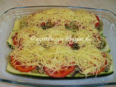 Az otthon ízei: Hússal töltött cukkini Cabbage, Spaghetti, Vegetables, Ethnic Recipes, Food, Essen, Cabbages, Vegetable Recipes, Meals