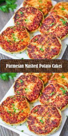 - Sweet Home Parmesan Mashed Potatoes, Mashed Potato Cakes, Eggplant Parmesan, Best Vegan Recipes, Salmon Burgers, Side Dishes, Roast, Yummy Food, Meals