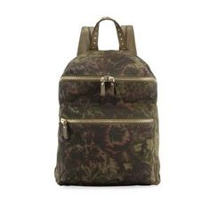 Valentino Floral-Pattern Canvas Backpack zWgRWw