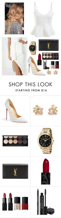 """""""Untitled #168"""" by rawdar ❤ liked on Polyvore featuring Christian Louboutin, Ruth Tomlinson, Witchery, Yves Saint Laurent, NARS Cosmetics and Rodial"""