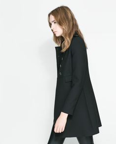 DOUBLE BREASTED TWILL COAT - Coats - Woman | ZARA United States