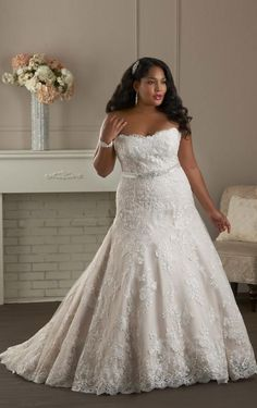 awesome plus size wedding gown