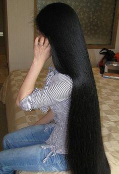 long sleek hair