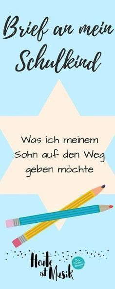 Ich habe meinem Schulkind, das in dieser Woche eingeschult wurde, einen Brief ge… I wrote a letter to my schoolchild who was enrolled this week. Such an enrollment is something very special and has made me think a bit … Starting School, Picture Letters, Montessori Education, Teacher Appreciation Gifts, I School, School Today, Music School, Funny Me, Classroom Management