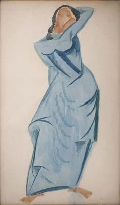 Max Weber - Blue Collage, 1915