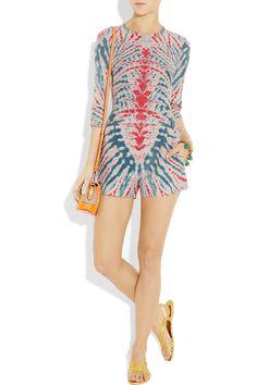 Raquel Allegra, Tie-dye silk & Linen-blend Playsuit $615 (http://shop.raquelallegra.com)