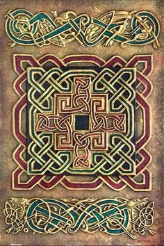 Celtic Cross from The Book of Kells by nina