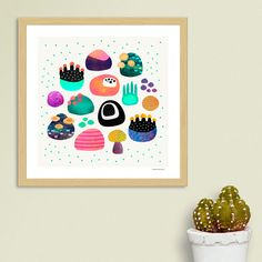 «Ocean Treasures», Numbered Edition Art Print by Elisabeth Fredriksson - From $24.9 - Curioos