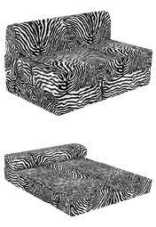 truhome dayton black and white zebra stripes sofa cum bed online shopping store