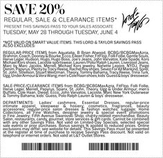 Lord & Taylor save 2%