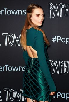 LOVE that dress! Cara Delevingne at the Paper Towns Premiere in Sydney, Australia - 05/07/2015