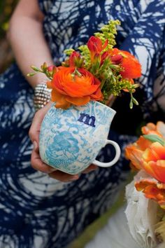 Fun bouquet in a mug idea by Southern Event Planners, Memphis, Tennessee. Memphis Tennessee, Event Planners, Bridesmaid, Fancy, Bridal Bouquets, Celebrities, Business Cards, Flowers, Southern