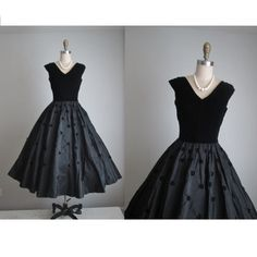 Vintage velvet and taffeta