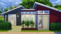 Houses and Lots: Crimson Starter from Totally Sims • Sims 4 Downloads