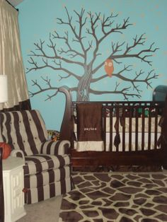 owl themed nursery | Owl Themed Baby Boy's Room - Nursery Designs - Decorating Ideas - HGTV ...