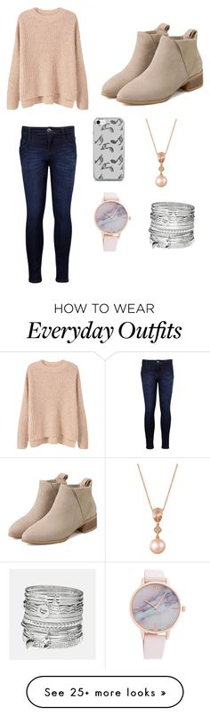 """""""Chic and stylish outfit for a school day that may be good or not. An everyday outfit."""" by sashalong on Polyvore featuring MANGO, Levi's, Music Notes, LE VIAN and Avenue"""