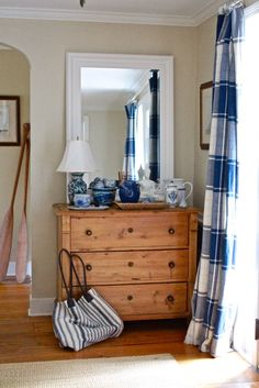 Designer Dad: Foyer Makeover : A Good Welcome Home                                     Drapes - Entry