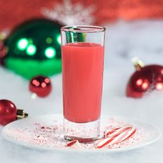 Like a candy cane in a glass!