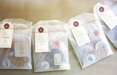 DIY idea based on Packaging by Oh Hello Friend. Translucent paper with a sewn on tag. Great for gifts. Paper Packaging, Pretty Packaging, Gift Packaging, Packaging Ideas, Smart Packaging, Diy Gifts, Handmade Gifts, Brown Paper Packages, Gift Bags