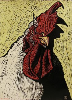 Reduction woodcut on handmade paper... awesome