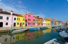 Burano :: Early Morning Colored Houses