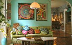 vintage möbel im wohnzimmer
