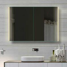 Fraaie 100 cm badkamer spiegelkast met instelbare lichtkleur