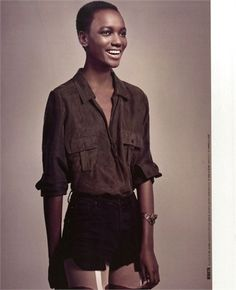 Herieth Paul  Born in Tanzania, Africa and lives in Canada, the young model is one of the new models to watch