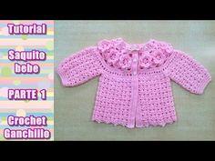 DIY Como tejer un TOP a crochet, paso a paso - Crochet Videos Crochet Bebe, Crochet For Kids, Easy Crochet, Knit Crochet, Crochet Hippo, Crochet Afgans, Blanket Crochet, Baby Cardigan, Baby Pullover