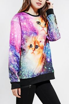 Galactic Cats Sweatshirt - Really?? Hahahaha!
