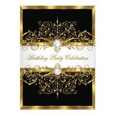 414 Best Elegant Birthday Party Invitations Images Elegant