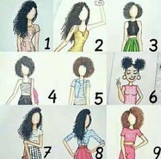 Dizem que cabelo cacheados está na moda, então seguir ai alguns tipos de cabelo que a maioria das cacheadas estão usando.  Qual tipo de cabelo você prefere?