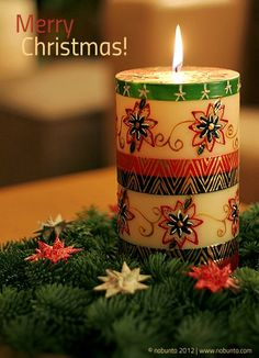 Season's Greetings with hand-painted #candles from #Nobunto