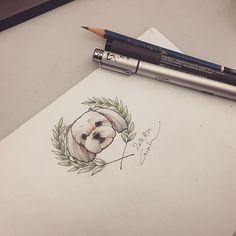 #puppy#puppydrawing#puppydesign#puppysketch#dogdrawing#dogdesign#dogsketch#반려견#반려견디자인#반려견스케치#그림#강아지그림#tattoo_grain