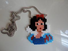 Snow White Necklace hama perler beads by This Shop of Margot Dora