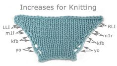 Increases for #knitting #knit