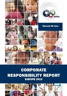 One by One - Amway Europe Corporate Responsibility Report 2013 Cover
