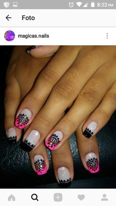 Erika, Triangles, Nail Designs, Nail Art, French, Nails, Beauty, Hair And Nails, Nail Bling