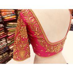 S& # bridal # handembroidery zardosi # grand # royal - Saree Jacket Designs, Wedding Saree Blouse Designs, Pattu Saree Blouse Designs, Blouse Designs Silk, Designer Blouse Patterns, Zardosi Work Blouse, Simple Blouse Designs, Stylish Blouse Design, Maggam Work Designs