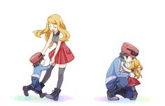 pokemon x y Calem Pokemon, Lusamine Pokemon, Pokemon Kalos, Pokemon X And Y, Pokemon Ash And Serena, Sexy Pokemon, Pokemon Manga, Pokemon Ships, Pokemon Comics